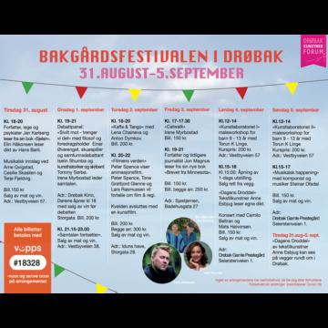 Bakgårdsfestivalen i Drøbak
